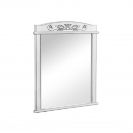 Зеркало Аква Родос Микела 80 см белое