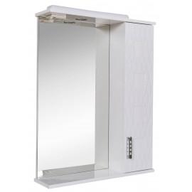 Зеркало Аква Родос Ассоль 65 см с пеналом справа и подсветкой