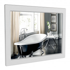 Зеркало Аква Родос Беатриче 80 см белый патина хром