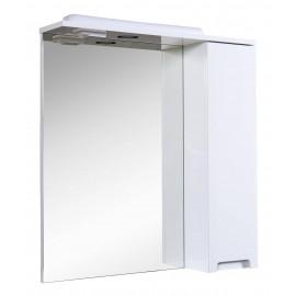 Зеркало Аква Родос Квадро 70 см с пеналом справа и подсветкой