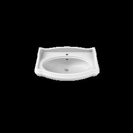 CeraStyle 1837 80 см Умывальник (Раковина) Полукруглая Белая