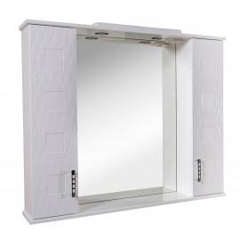 Зеркало Аква Родос Ассоль 100 см с пеналами и подсветкой